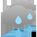 stark bewölkt, zeitweise Regen